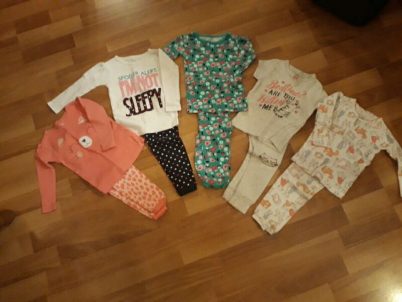 Lot Of 10 Baby Girl Pajamas 12 Month