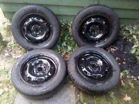 """Car steal wheels 14"""" 170/70R14 5X100"""