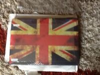 "Mc book pro 13"" Union Jack rubberised hard case cover"