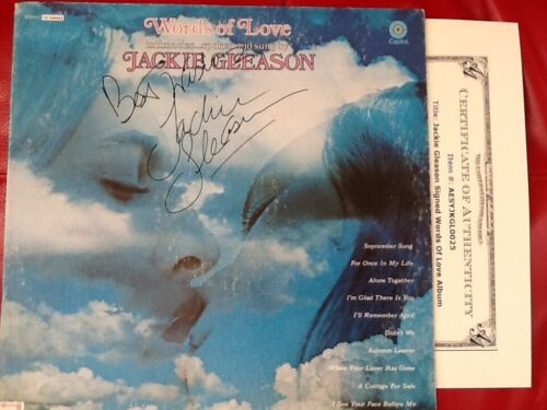 Jackie Gleason  SIGNED 1971 Album  Movie TV Star Honeymooners  The Hustler  COA
