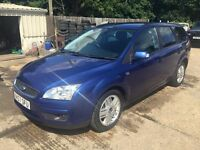 ** NEWTON CARS ** 07 57 FORD FOCUS 1.8 GHIA ESTATE, GOOD OVERALL, ALLOYS, MOT JUL 2017, P/EX POSS