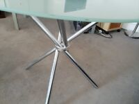Rounded Glass Table