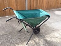 Folding garden wheelbarrow