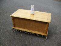 Very Clean & Quality Heavy Pine Wicker Storage Blanket Box Chest