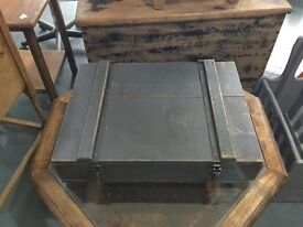 Hard Solid Wood Army Tool Box. Real Army Boxes. CUSTOM BOX AVAILABLE READ DESCRIPTION.