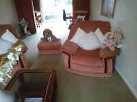 one 3 seater sofa with 2 armchairs