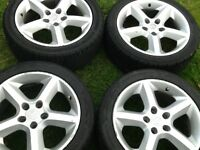 Alloy wheels 5stud good tyres Vauxhall