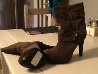 Ladies suede ankle boots