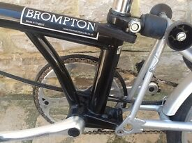 Brompton 3 Speed Folding Bicycle, Lovely Condition, 1 Owner, Hardly Used, Origional Tyres From New