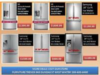 WASHERS , DRYERS .  FRIDGES , STOVES ,  RANGES & OVENS 40% OFF