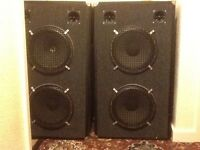 Pair of 150 watt double 12 inch DJ speakers. All new drivers fitted.