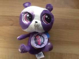 New with tags Penny Ling panda cuddly toy littlest pet shop, (lps)