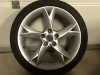 18INCH 5/112 AUDI A5 ALLOY WHEELS WITH TYRES FIT VW SEAT ETC
