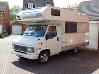 Classic LHD 1993 Hymer Camp 55, Fiat Ducato Chassis 2.5L diesel. £7,500 MOT Nov 2017. 'Shabby Chic'