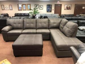 INVENTORY CLEARANCE! SELLING OUT FAST! @ Richi Collection NEW LEATHER-AIRE SECTIONAL ONLY$1499!