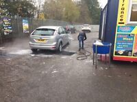 Main Road Location Hand Car Wash Business For Sale - Large Land - Huge Potential - Cheap Rent