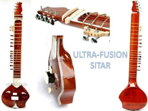 SITAR ULTRA PRO NATURAL FUSION ELECTRIC SITAR WITH FIBERGLASS CASE GSM016 C