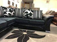 Leaf Arm Design Manufactured Sofa *SHANON 5 SEATED* (Corner & 3+2 Seated Sofa) For Sale.