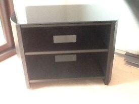 TV stand - Alphason Finewood black veneer and glass