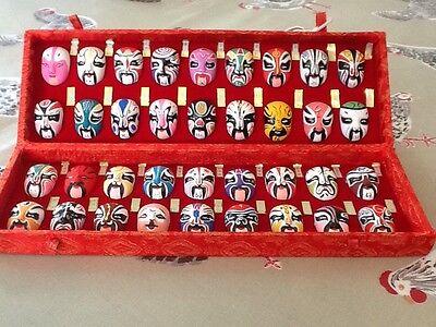 Beijing opera types of facial make up masks in presentation box