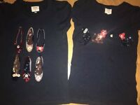 Two JASPER CONRAN sparkly tops Age 8