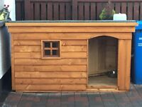 *New XL Dog Kennel with Porch, Window & Insulation*(Box,Run,House,Bed,Heavy Duty Timber,large)