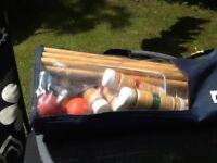 Wooden child's croquet set