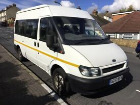 Ford Transit 2.0 TDI MINIBUS 5dr (6-7-8-9-10-11-12 Seat, MWB) full mot start and drive very well