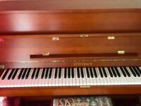 Steinbach 108 Upright Piano with stool (cherry finish)