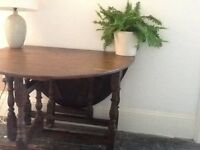 Antique oak gate-legged table
