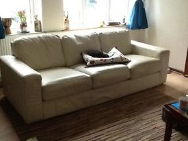 Four seater leather sofa