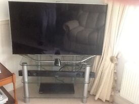 Samsung led smart TV with 3D package DVDs player and sound bar with sub woofer and stand
