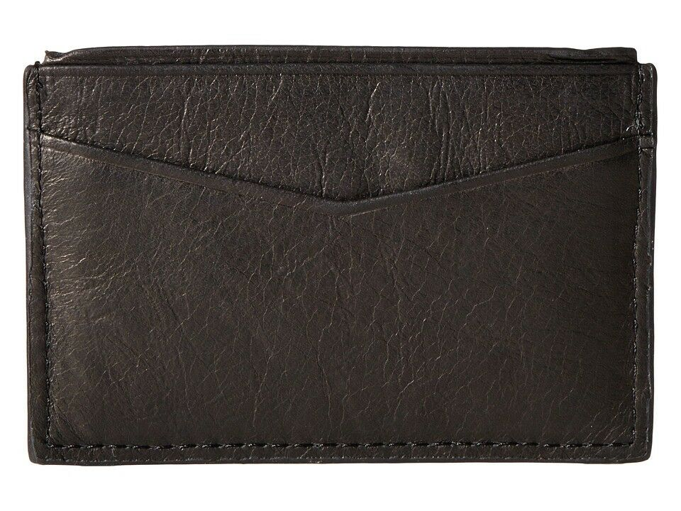 Men's Fossil 'Ingram' Leather Card Case - Black