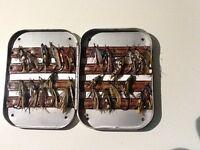 Fishing Flies in metal box