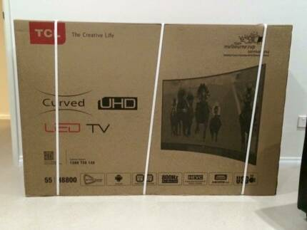 BRAND NEW! STILL IN BOX! 55 INCH CURVED UHD LED TV Hammond Park Cockburn Area Preview