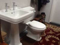 Bathroom Sink and Toilet with soft close seat .excellent condition.