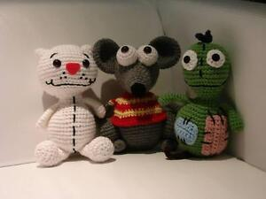Handmade Crochet Toopy, Binoo and Patchy Patch