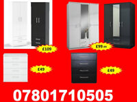 WARDROBES TALLBOY CHESTS BRAND NEW FAST DELIVERY 86305