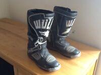 Wulf motocross boots.