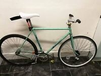 Bianchi Classic Steel frame track bike, fix gear, fixedgear, 1970s frame, sanmacro saddle Celeste