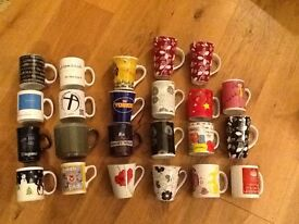 BOX OF X23 MUGS, ASSORTED SIZES AND DESIGNS £10
