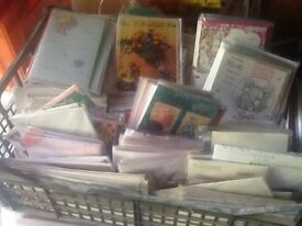Job lot of greeting cards large amount
