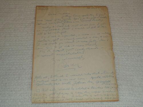 Percy Grainger Handwritten Signed 1940 Original Vintage Letter