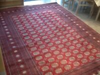 Superb quality man-made silk(synthetic)smooth,soft,thin rug 290cm x 200cm-used for 2nights only