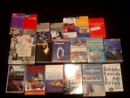 Assorted travel books - bulk lot