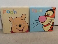 2 Winnie the Pooh canvasses