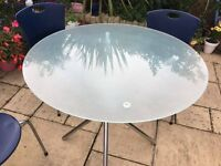 Casual Glass Table and 4 chairs