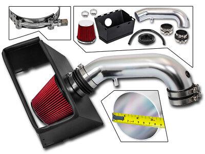 BCP RED 09-15 Dodge Ram 1500 2500 3500 5.7 V8 Cold Air Intake Kit +Heat Shield