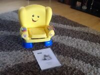 FISHER PRICE SMART STAGES YELLOW CHAIR WITH INSTRUCTIONS EXC CONDITION