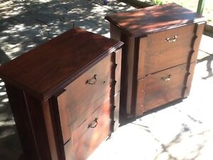Bedside tables. + tallboy. Woodville North Charles Sturt Area Preview
